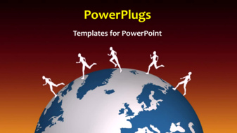 PowerPoint Template - Running around the World
